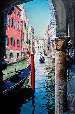 Painting - Gondola Ride by Michel Angelo Rossi