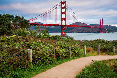 Photograph - A Stroll Near The Golden Gate Bridge - San Francisco California by Gregory Ballos