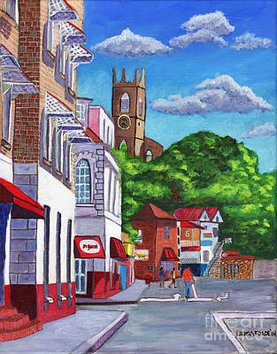 Painting - A Stroll On Melville Street by Laura Forde