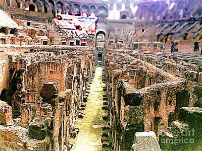 Photograph - A Stroll Through The Basement Of The Roman Coliseum by Merton Allen