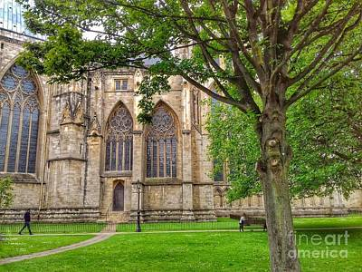 Photograph - A Stroll Through The Grounds Of York Minster by Joan-Violet Stretch