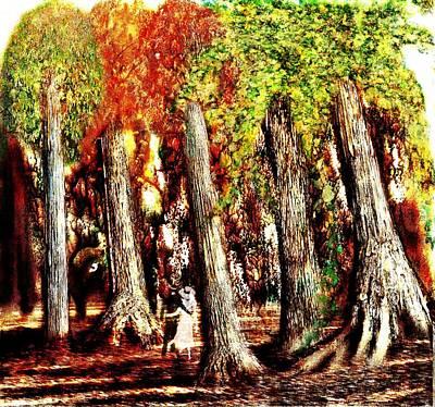 A Stroll Through The Woods Art Print by Mark Conrad