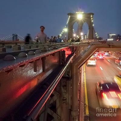 Photograph - A Strong Bridge, New York City #130515 by John Bald