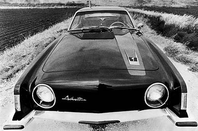 Front View Photograph - A Studebaker Avanti by Underwood Archives