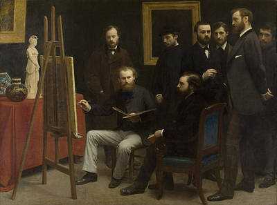 Painting - A Studio At Les Batignolles by Henri Fantin-Latou