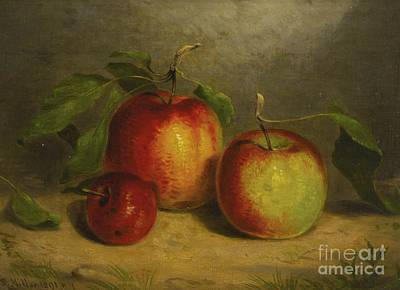 Nature Study Painting - A Study For Apples From Nature by MotionAge Designs