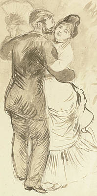 Intimate Relationship Painting - A Study For Dance In The Countryside by Pierre Auguste Renoir