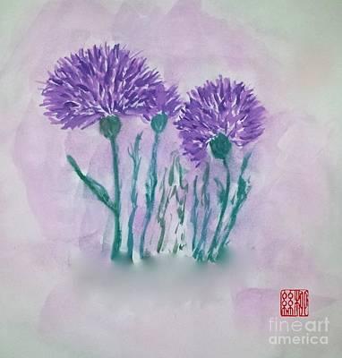 A Study In Purple Art Print
