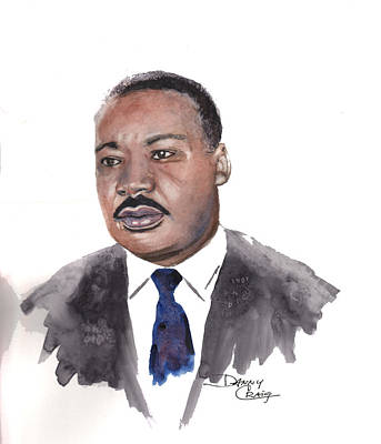 Civil Rights Painting - A Study Of King by Danny Craig