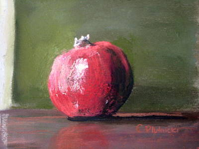 Pastel - A Study Of Pomegranite by Cindy Plutnicki