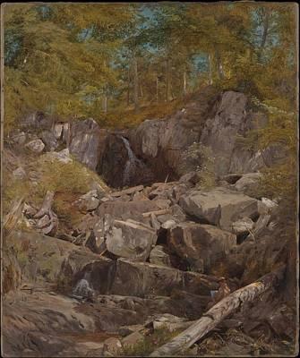 A Study Of Trap Rock Buttermilk Falls Art Print