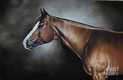 Western Pleasure Horse Pastel - A Sudden Impulse by Joni Beinborn