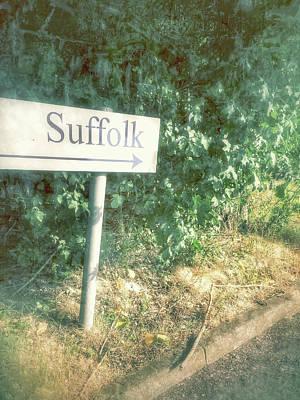 A Suffolk Sign Art Print by Tom Gowanlock