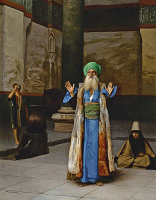 Jean-leon Gerome Painting - A Sultan At Prayer by Jean-Leon Gerome
