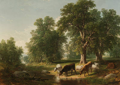 American Painters Painting - A Summer Afternoon by Asher Brown Durand