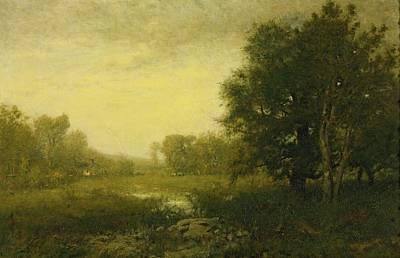 A Summer Evening Painting - A Summer Day by Alexander Helwig