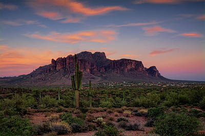 Photograph - A Summer Evening In The Superstitions  by Saija Lehtonen