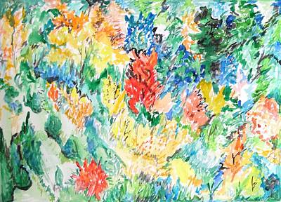 Painting - A Summer Garden Frolic by Esther Newman-Cohen