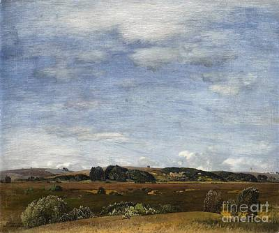 Landscape Painting - A Summer Landscape In South Germany by Celestial Images