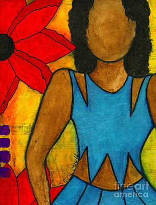 Mixed Media - A Summer Love Jones by Angela L Walker