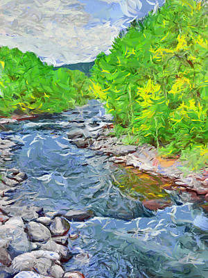 Digital Art - A Summer Morning On The Eagle River by Digital Photographic Arts