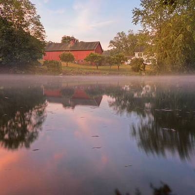 Red Barns Photograph - A Summer Morning Square by Bill Wakeley