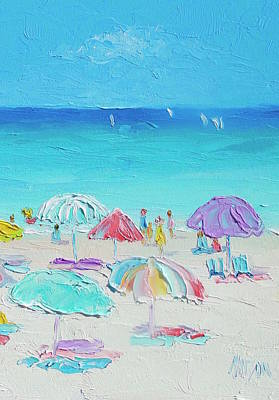 Painting - A Summer Paradise by Jan Matson