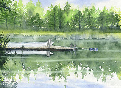 Painting - A Summer Pond by Melly Terpening