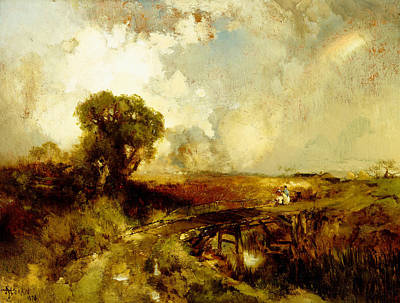 Painting - A Summer Shower by Thomas Moran
