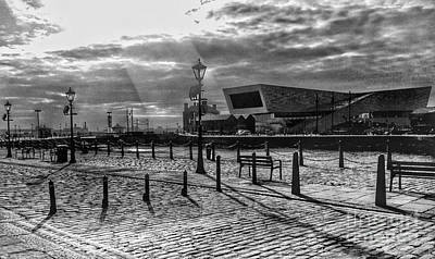 Photograph - A Summer's Evening At Albert Dock 2 by Joan-Violet Stretch