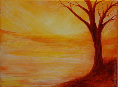 ...a Sun Sets Art Print by Amy Stewart Hale
