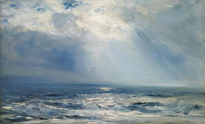 Reflecting Water Painting - A Sunbeam Over The Sea by Henry Moore