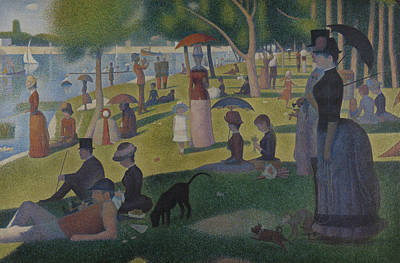 Jatte Painting - A Sunday Afternoon On The Island Of La Grande Jatte by Georges-Pierre Seurat