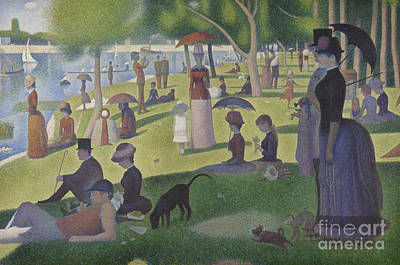 Crowds Painting - A Sunday On La Grande Jatte by Georges Pierre Seurat
