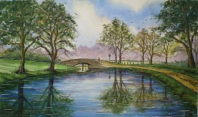 Walking People Painting - A Sunday Stroll by Andrew Read