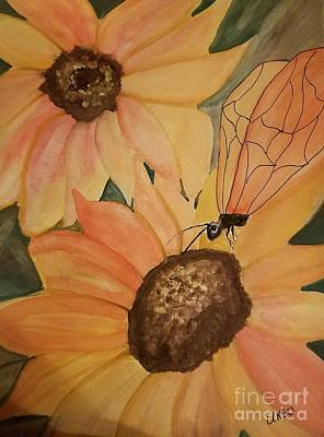 Painting - A Sunflower Surprise by Maria Urso
