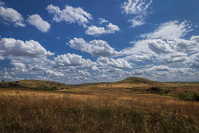 Photograph - A Sunny Afternoon In The Smoky Hills Of Kansas by Scott Bean