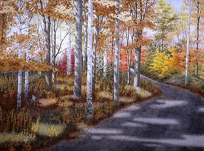 A Sunny Autumn Day Art Print by Conrad Mieschke