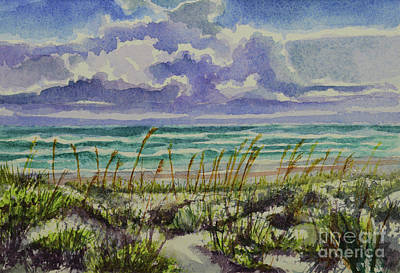 Painting - A Sunny Beautiful Day At The Beach by Julianne Felton