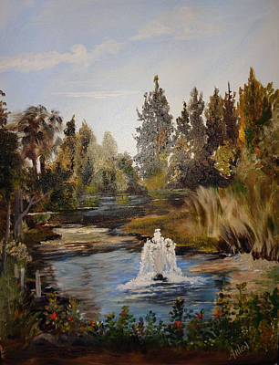 Painting - A Sunny Day At The Gardens by Arlen Avernian Thorensen