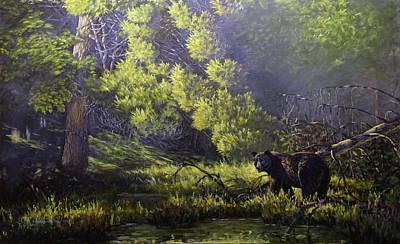 Painting - A Sunny Meadow by Valentin Katrandzhiev