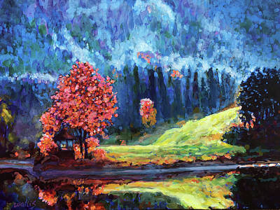 Wall Art - Painting - A Sunny Morning After The First Frost by Charles Wallis