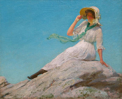 A Sunny Morning Painting - A Sunny Morning  by Charles Courtney Curran