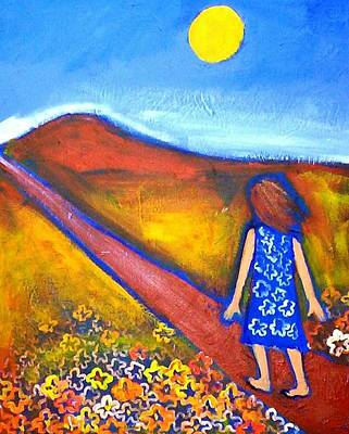 Print featuring the painting A Sunny Path by Winsome Gunning