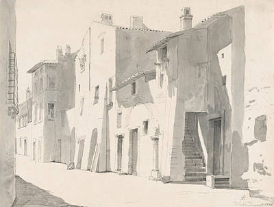 Drawing - A Sunny Street At Tivoli by Thorald Laessoe