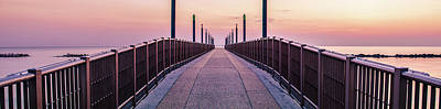 Photograph - A Sunrise On The Pier by Andrea Mazzocchetti