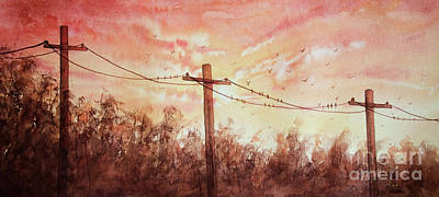 Painting - A Sunset For The Birds by Rebecca Davis