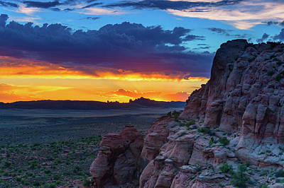 Photograph - A Sunset In Arches National Park by John De Bord
