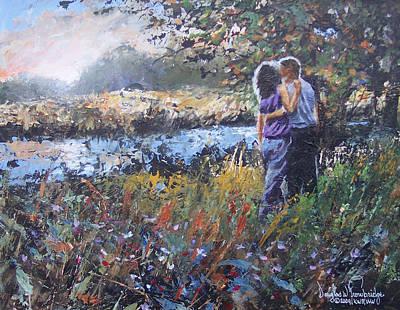 A Sunset Remembered Art Print by Douglas Trowbridge