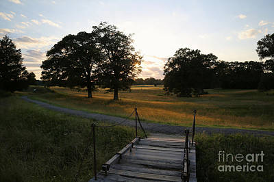 Photograph - A Sunset Scene At Yorktown Battlefield by Lara Morrison